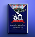 60s Reinvented Car Show Poster Design