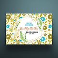 5 X 7 Envelope Special Invitation Floral Design