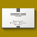 Basic One Color Business Card - Center Line Stripes Design