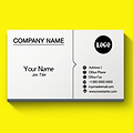 Basic One Color Business Card Design