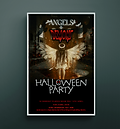 Angels and Demons Halloween Party Poster Design