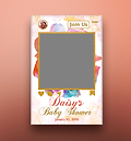 Baby Shower Instagram Cutout Poster Design