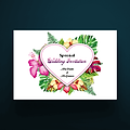 5 X 7 Envelope Special Wedding Invitation Floral Heart Design