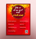 Abstract Polygons - QR Code Event Flyer Design