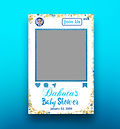 Baby Shower Instagram Cutout Poster Design