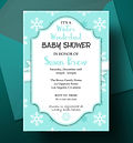 Baby Shower Winter Time Invitation Design