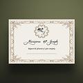 5 X 7 Envelope Special Wedding Invitation Vintage Royal Design