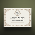 5 X 7 Envelope Special Wedding Invitation Vintage Royal Design
