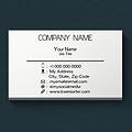 Basic One Color Business Card Design