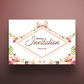 5 X 7 Envelope Special Invitation Floral Design