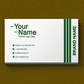 Basic One Color Business Card - Line Stripes Design