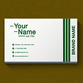 Basic One Color Business Card - Line Stripes Design