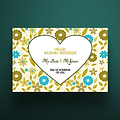 5 X 7 Envelope Special Wedding Invitation - Heart Floral Design