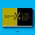 Barber - Hair Stylist - QR Code Business Card Design
