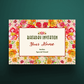 5 X 7 Envelope Birthday Invitation Floral Design