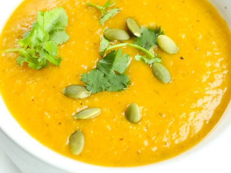Easy Butternut Tomato Soup with Curried Cauli