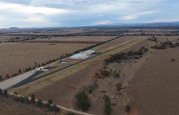 Sideway aerial view Australia