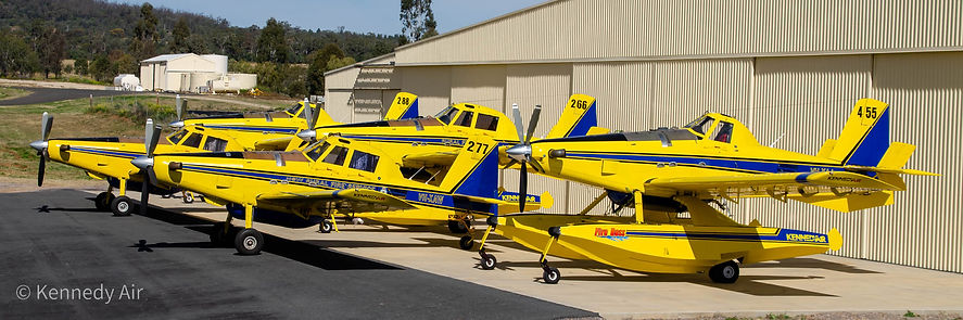 fleet of Air Tractor 802 and Fire boss aircraft in Australia