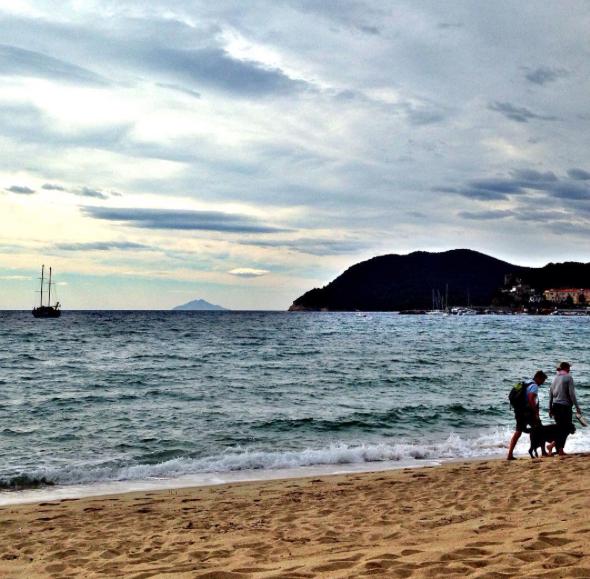 Elba island; Montecristo behind