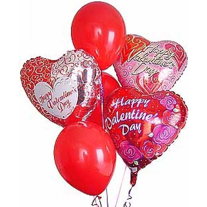 Valentines Balloons Bouquet