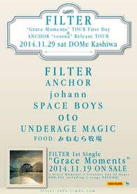 "2014.11.29(sat)柏DOMe FILTER ""Grace Moments""TOUR初日 ANCHOR ""Cessna"" TOUR 柏編"