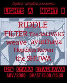 "2018.12.16 (sun) 北浦和KYARA  euphoria TOUR北浦和  lights alights presents ""LIGHTS A NIGHT 8"""