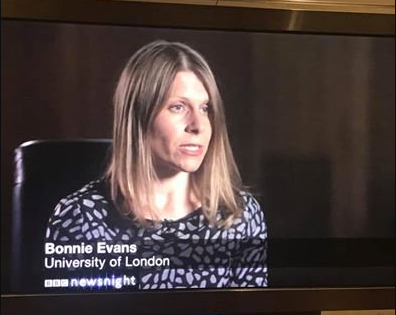 Bonnie Evans speaks on Newsnight