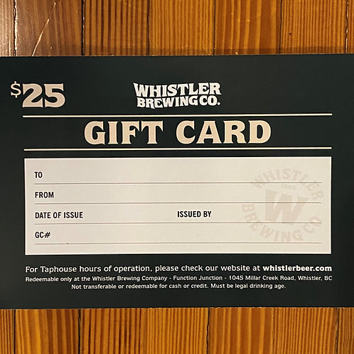 $25 Taphouse Gift Card