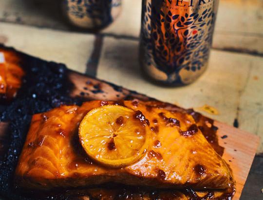 Salmon with Lonetree Cider Glaze |  Le Coup de Grace