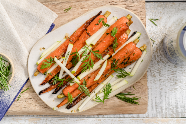 Food Network Canada's Chef Dale Mackay Lonetree Authentic Dry Cider-Glazed Carrots