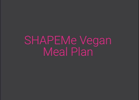 SHAPEMe Vegan Meal Plan