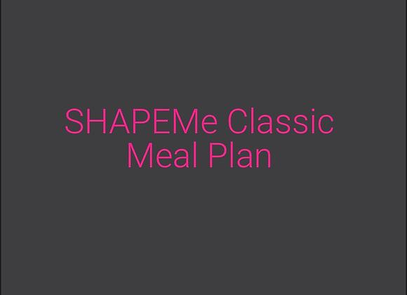 SHAPEMe Classic Meal Plan