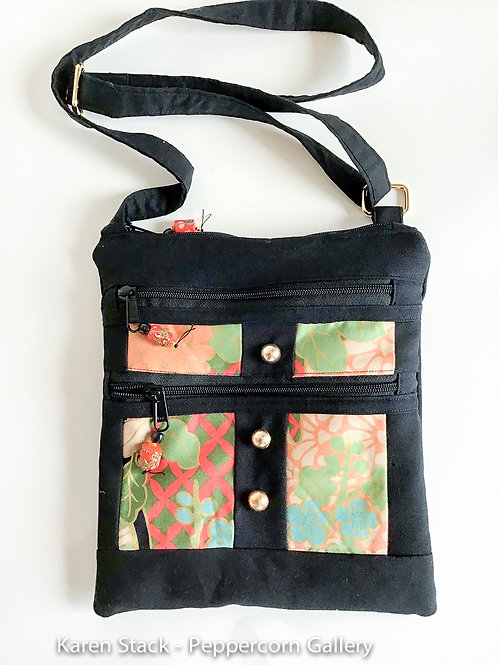Cross Body Bag - Medium - Black