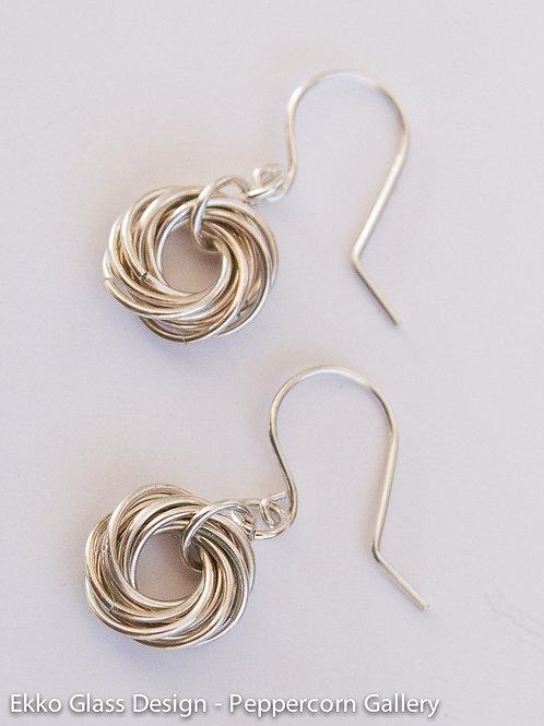 Silver Vortex Earrings