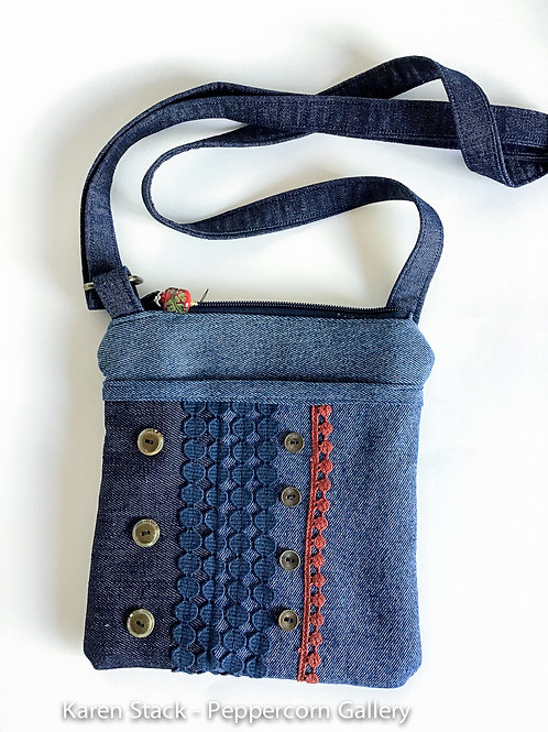 Cross Body Bag - Small - Denim