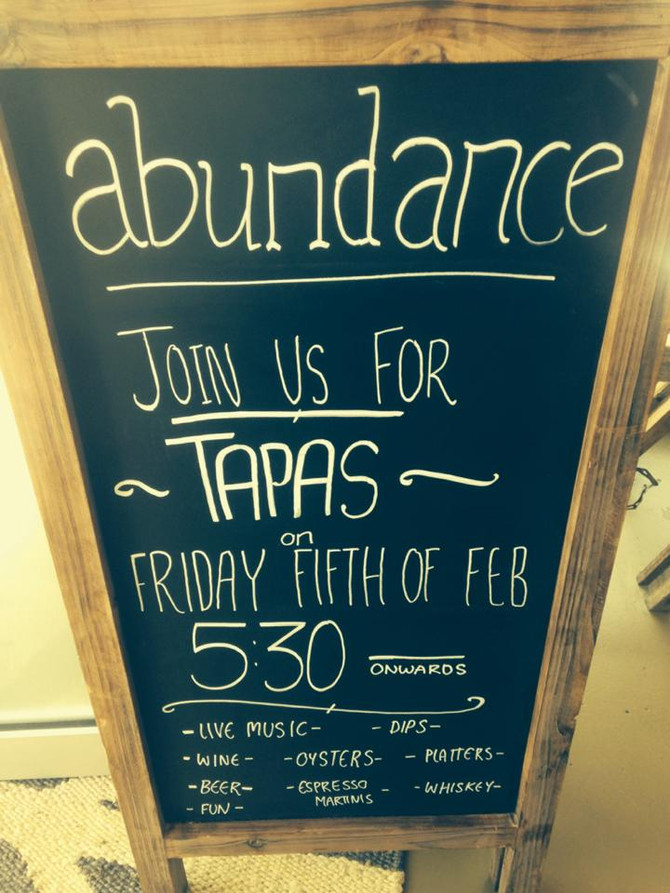 Tapas at Abundance on the Quay