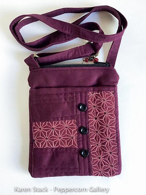 Cross Body Bag - Small - Burgundy