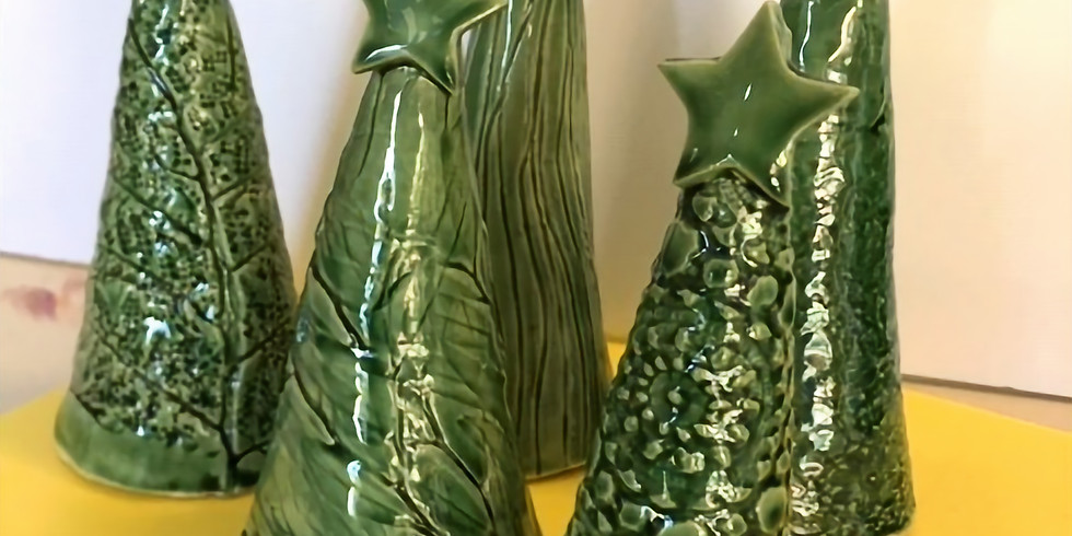 3 Ceramic Christmas Trees - 2 Monday afternoons