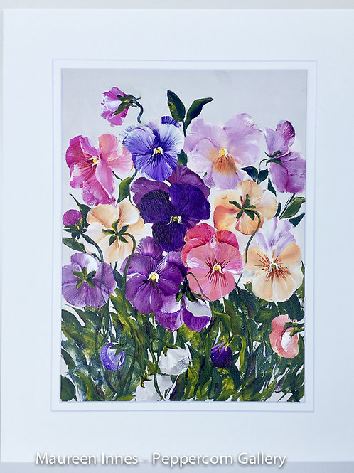 Whimsical Pansies