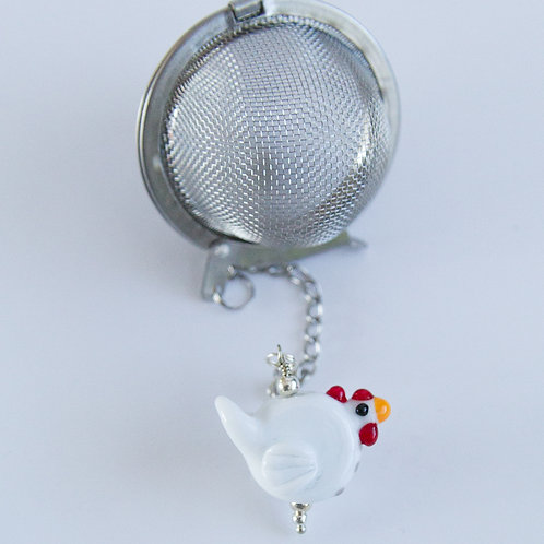 Tea Infuser - White Chicken
