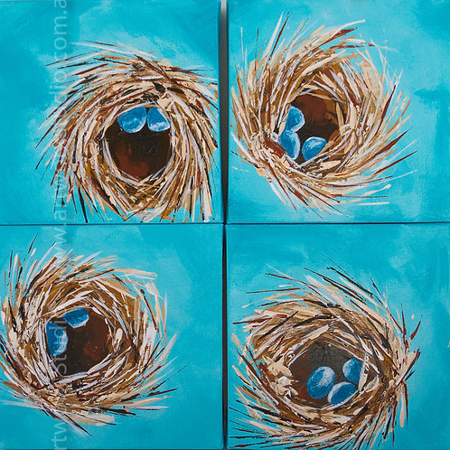 Set of Four Nest Canvas Paintings