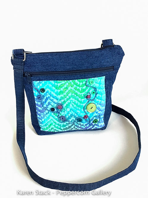 Cross Body Bag - Denim