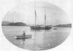 Ida in dinghy
