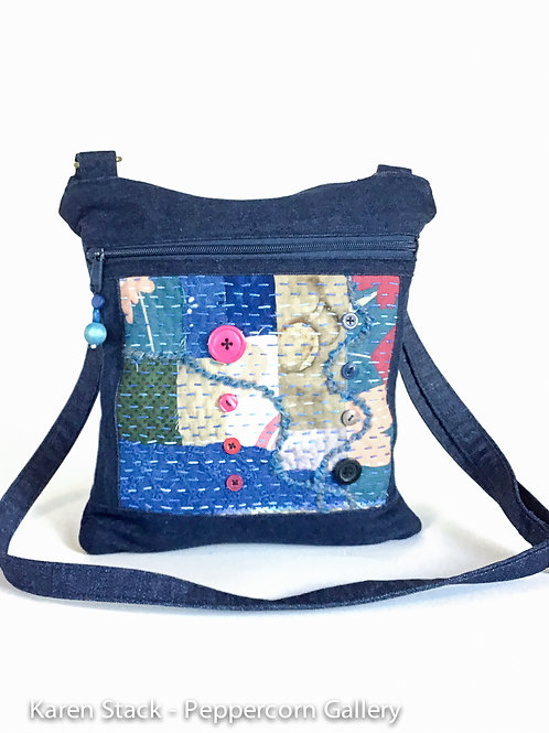 Cross Body Bag - iPad bag Denim