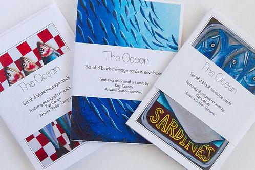 Set of 3 Ocean Cards