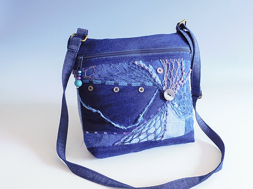 Cross Body Bag - Blue Denim