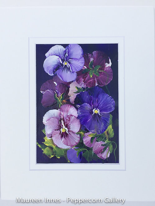 Pansies on Paper