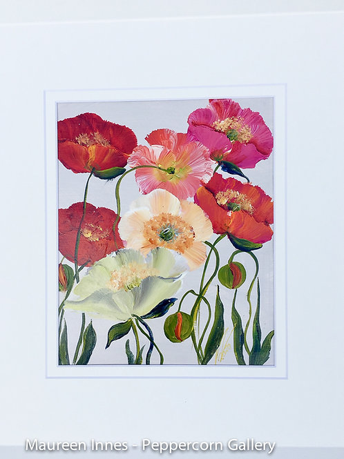 Poppies on Paper