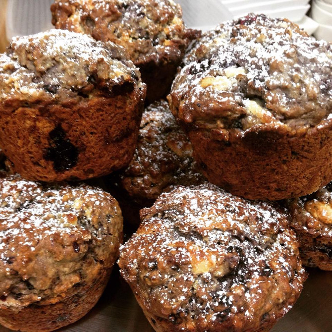 Organic Blackberry Muffins