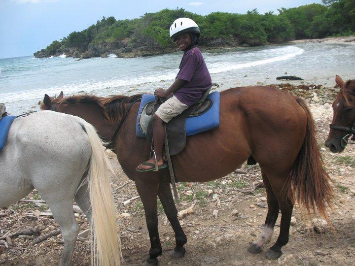 horseback in water